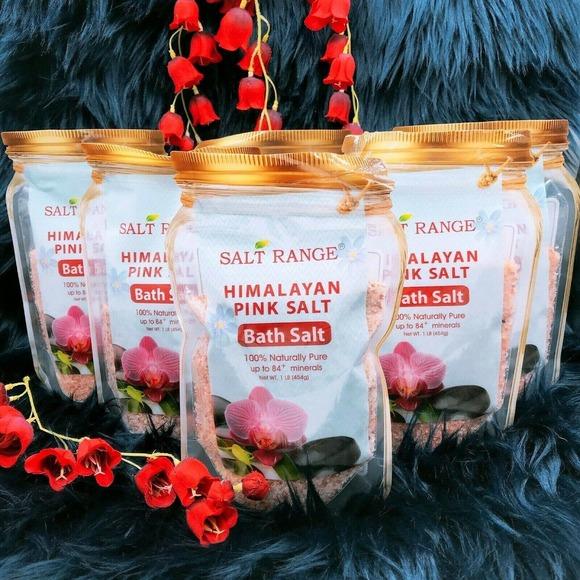Salt Range HIMALAYAN PINK SALT Bath Salt 100% Pure